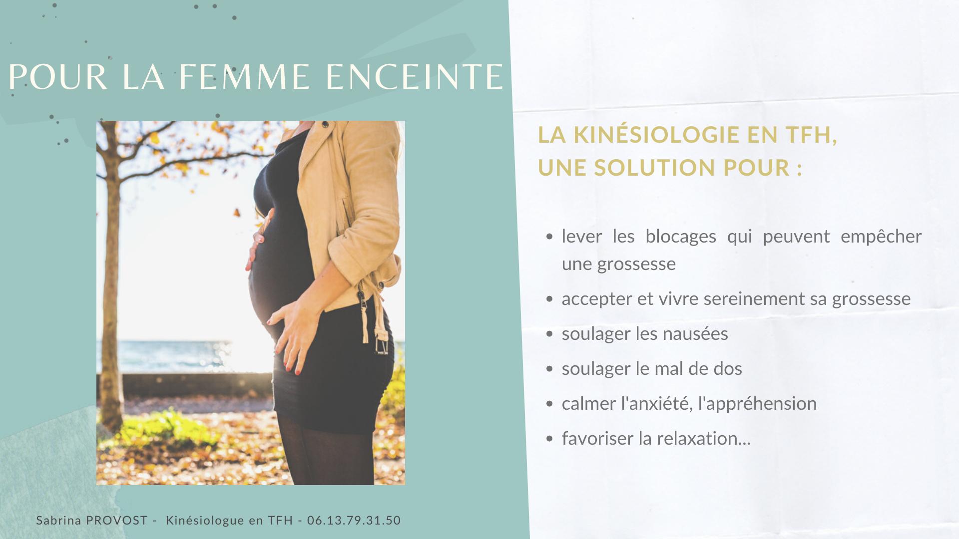 La kinésiologie en TFH, pour la femme enceinte