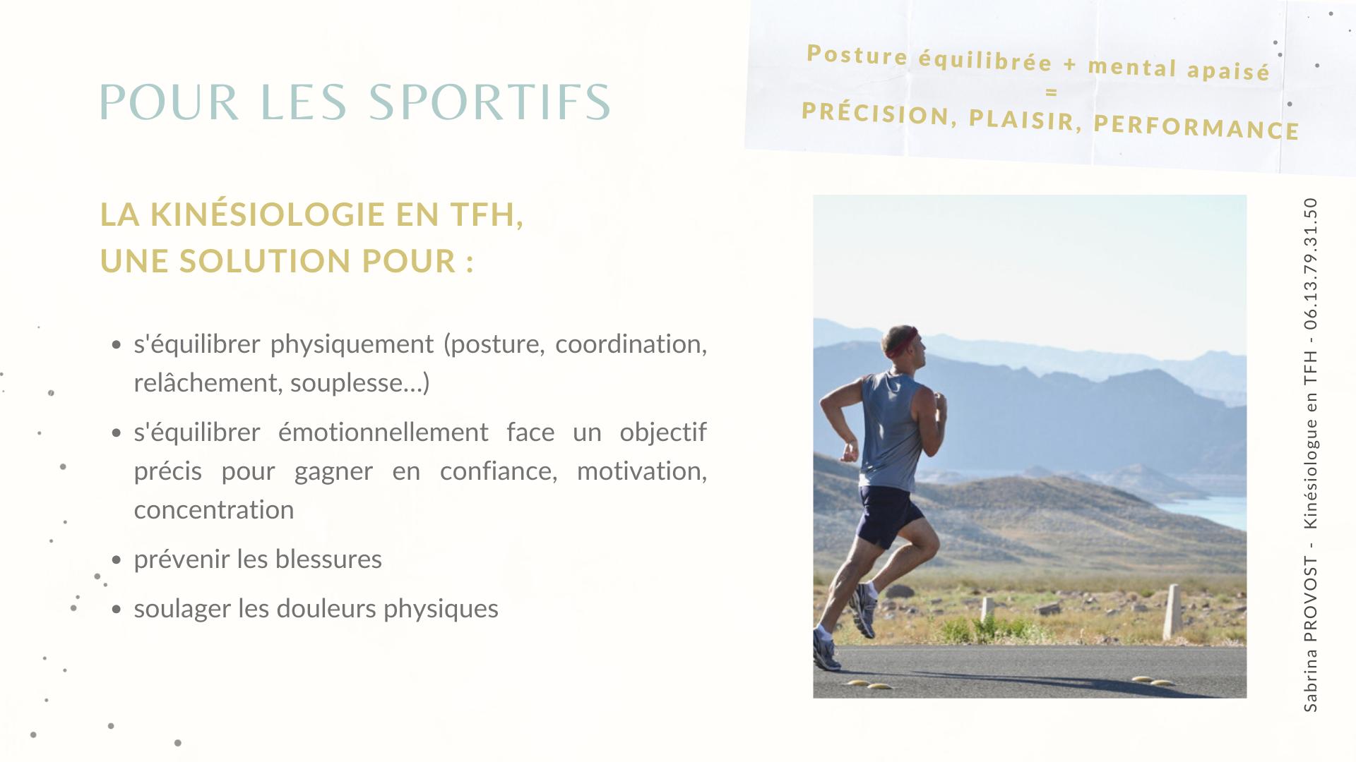 La kinésiologie en TFH, pour les sportifs